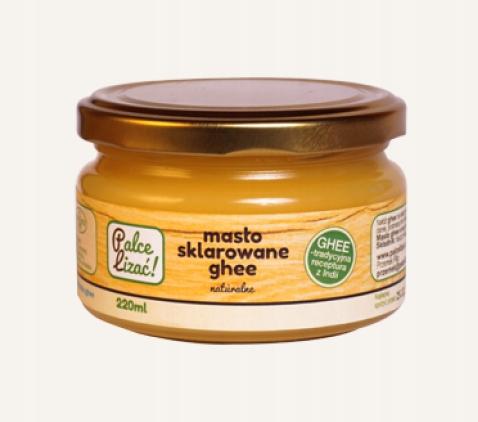 Palce lizać! Masło klarowane Ghee naturalne 220ml