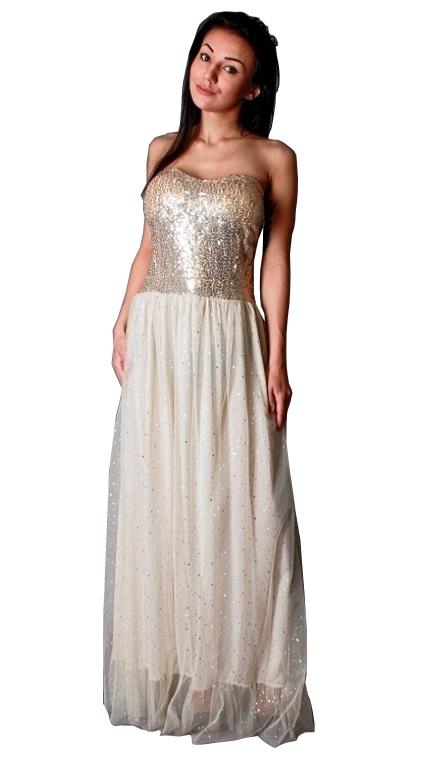 30% Suknia wieczorowa Długa sukienka z tiulu XL