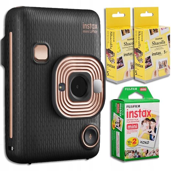 Fujifilm Instax Mini LiPlay black+wkład+shacolla