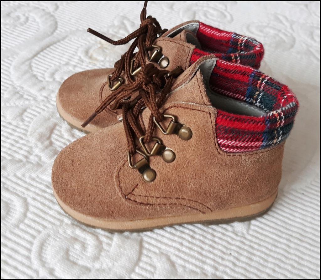 chłopiec buty buciki traperki r.17 (us2 ) 9,5 cm