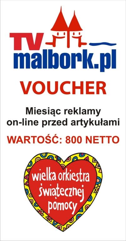 Voucher na reklamę przed artykułami w TV Malbork