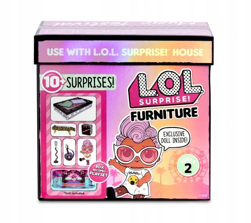 Figurki L.O.L. Surprise Mebelki z lalką, festiwal