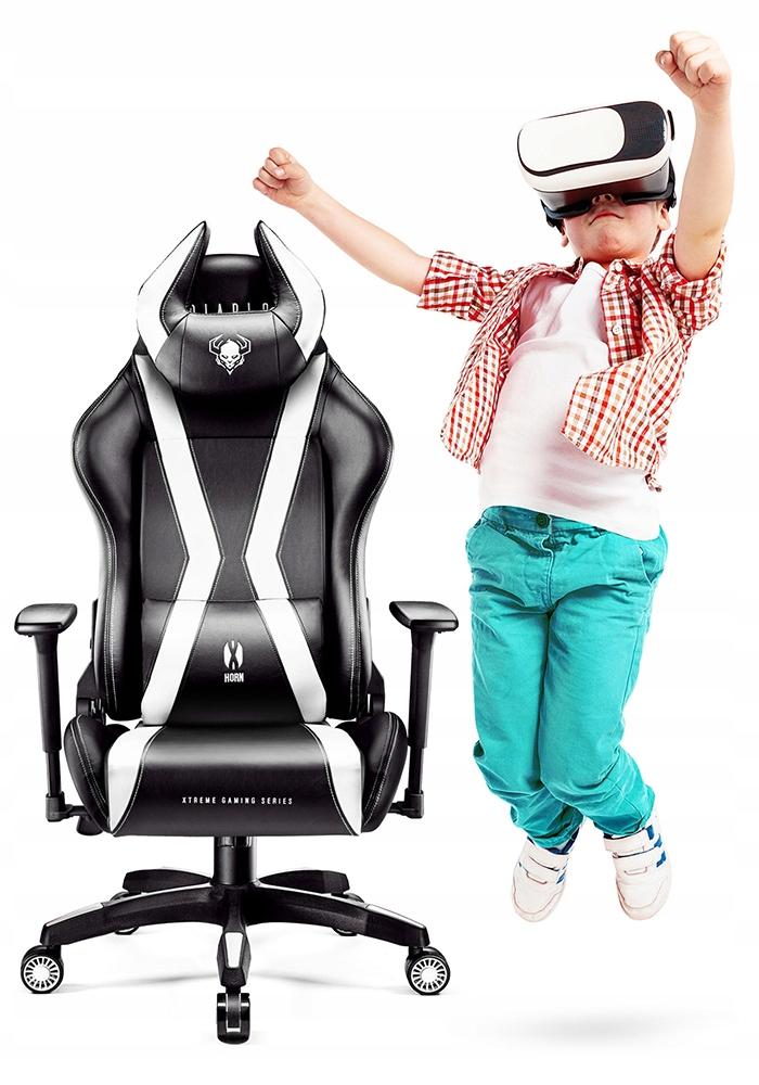 Fotel gamingowy Diablo X-HORN 2.0 KIDS BIAŁY