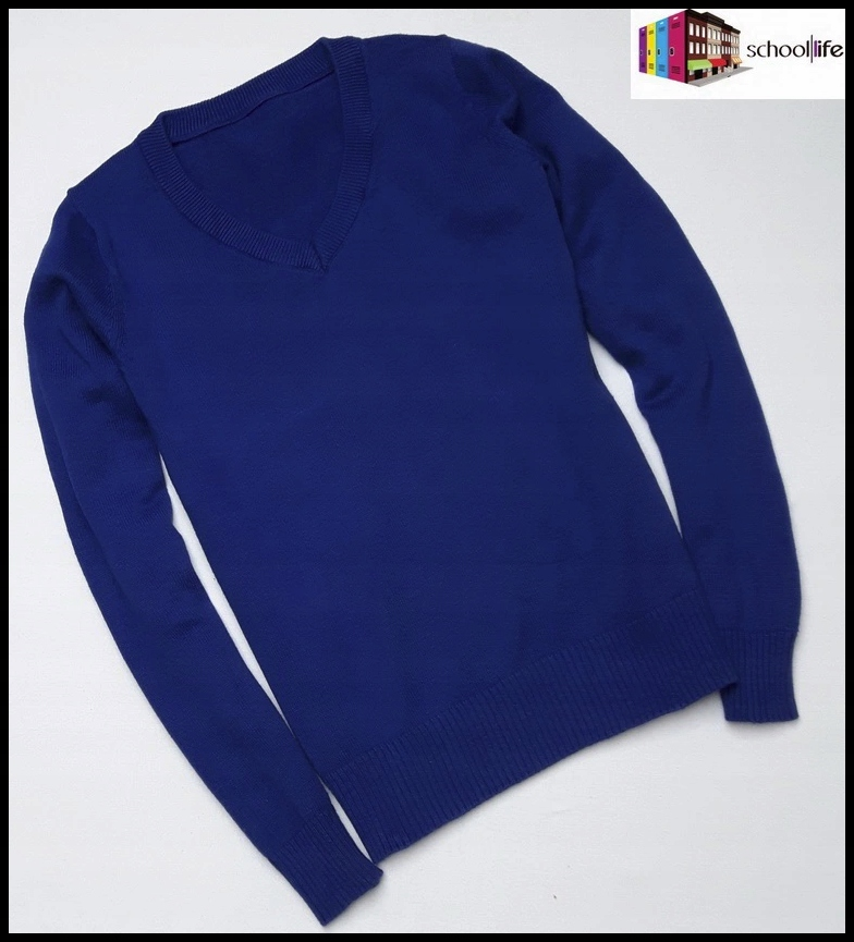school SWETER sweterek rozmiar 116 122 chabrowy