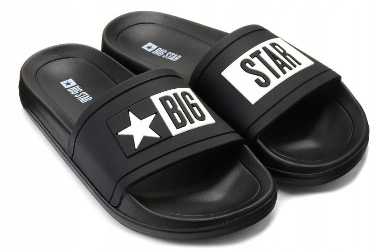 Klapki Big Star obuwie DD174699 906 czarne 45