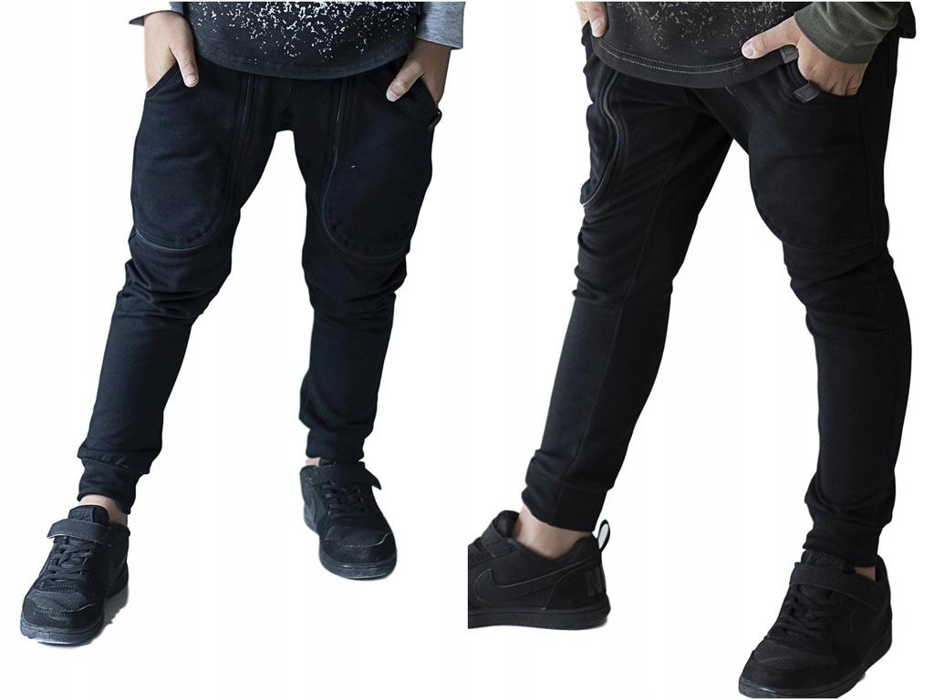 All for kids spodnie czarne ekspresy 104 110 NEW
