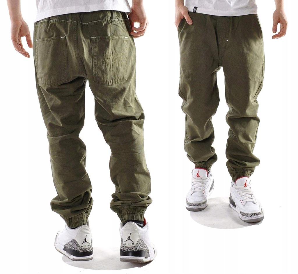 Spodnie 34 Mass Dnm Signature Jogger khaki joggery
