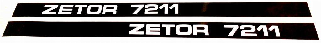 Naklejki napisy Zetor 7211 komplet