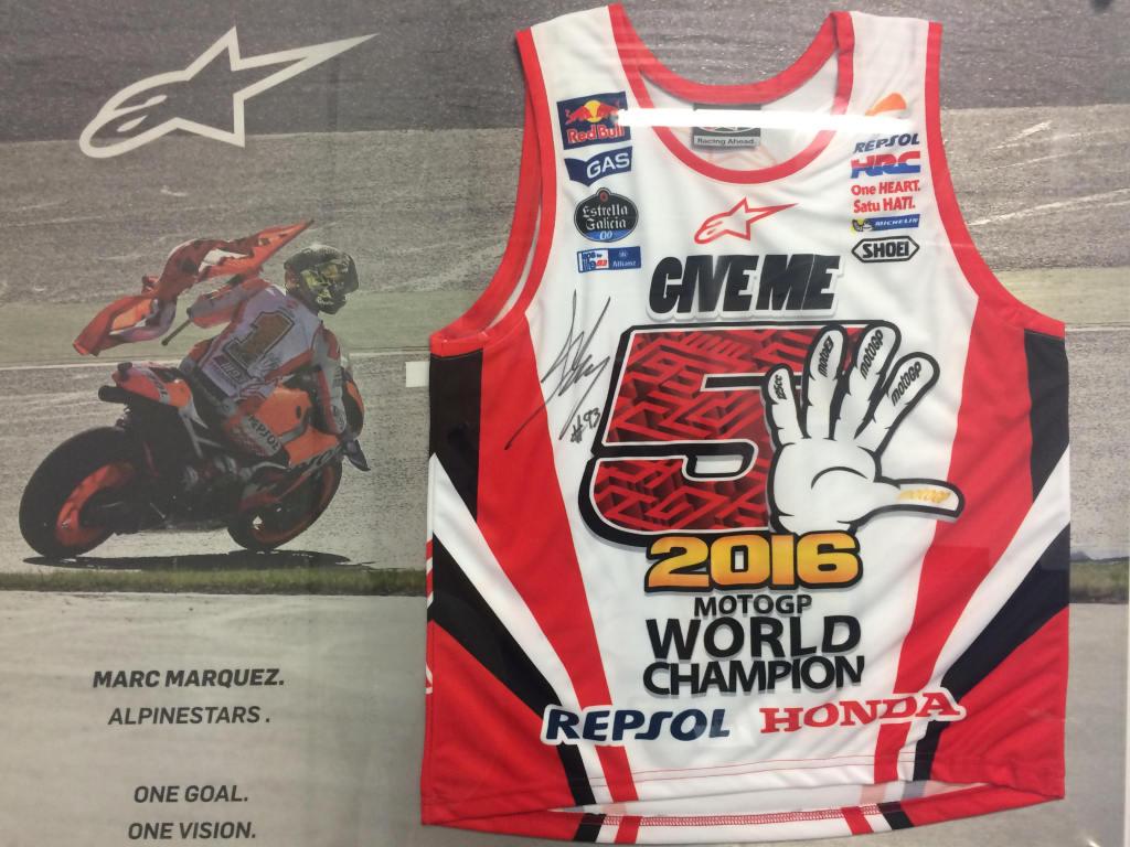 Koszulka Alpinestars z autografem Marca Marqueza