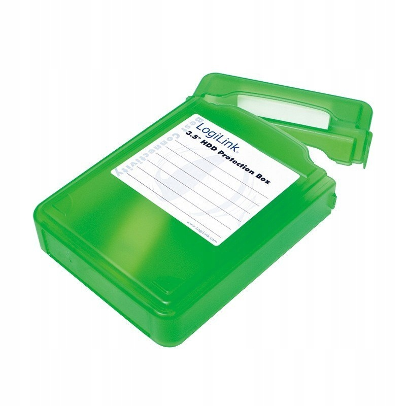 Pudełko ochronne do HDD 3.5', zielone