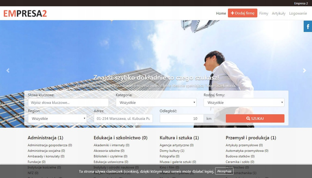 Skrypt strony internetowej katalogu firm Empresa2