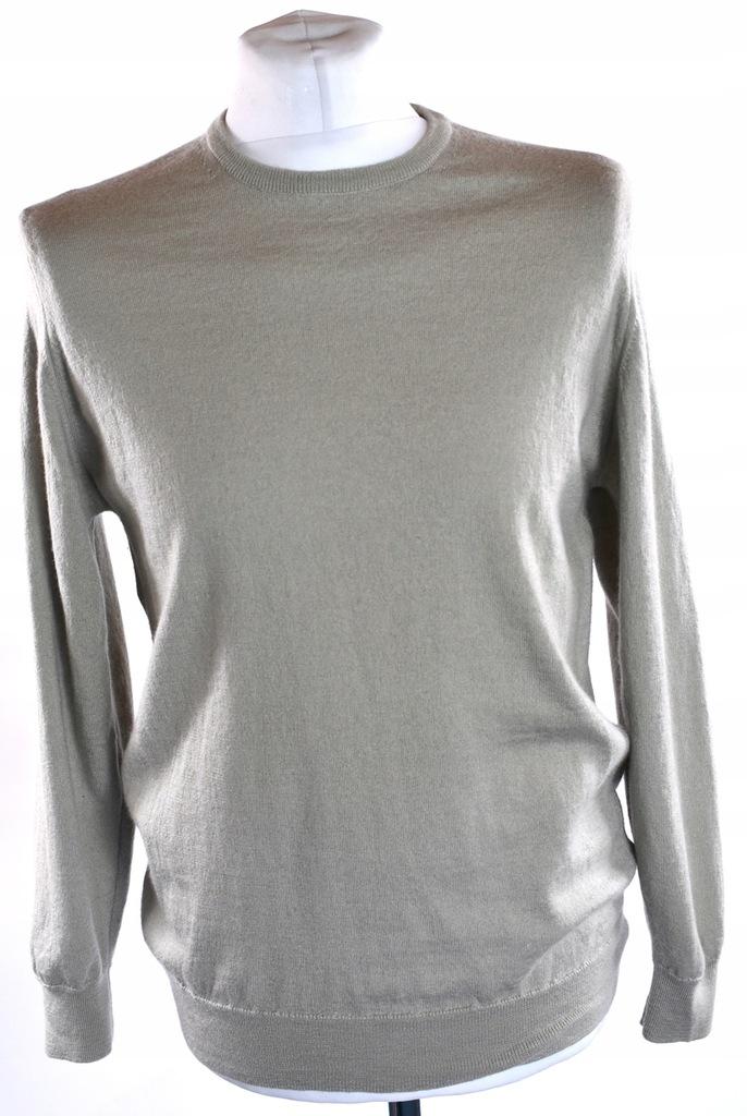 M&S sweter męski bawełna r. XL beżowy