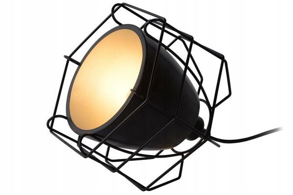 Metalowa lampa na stół do salonu Lucide GRID