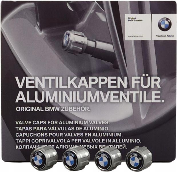 OE BMW ZESTAW WENTYLI KÓŁ Z LOGO BMW 7 F01 F02