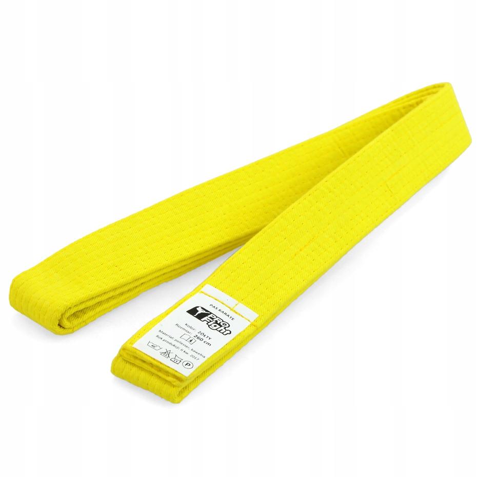 Pas do karate Profight żółty 260cm