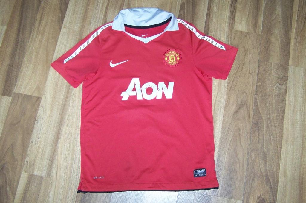 NIKE czerwona koszulka polo dla chłopca 10-12 lat