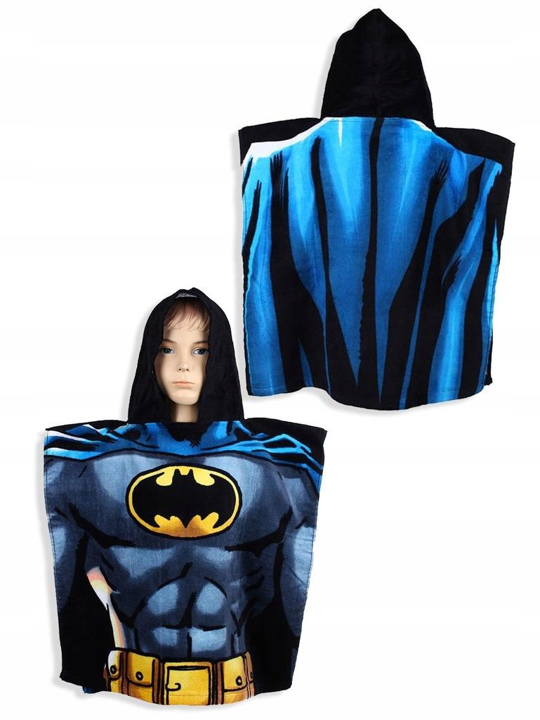 Ręcznik bawełniany ponczo z kapturem 55x110 Batman