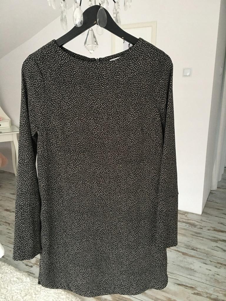 Brązowa sukienka kropki cętki H&M 36