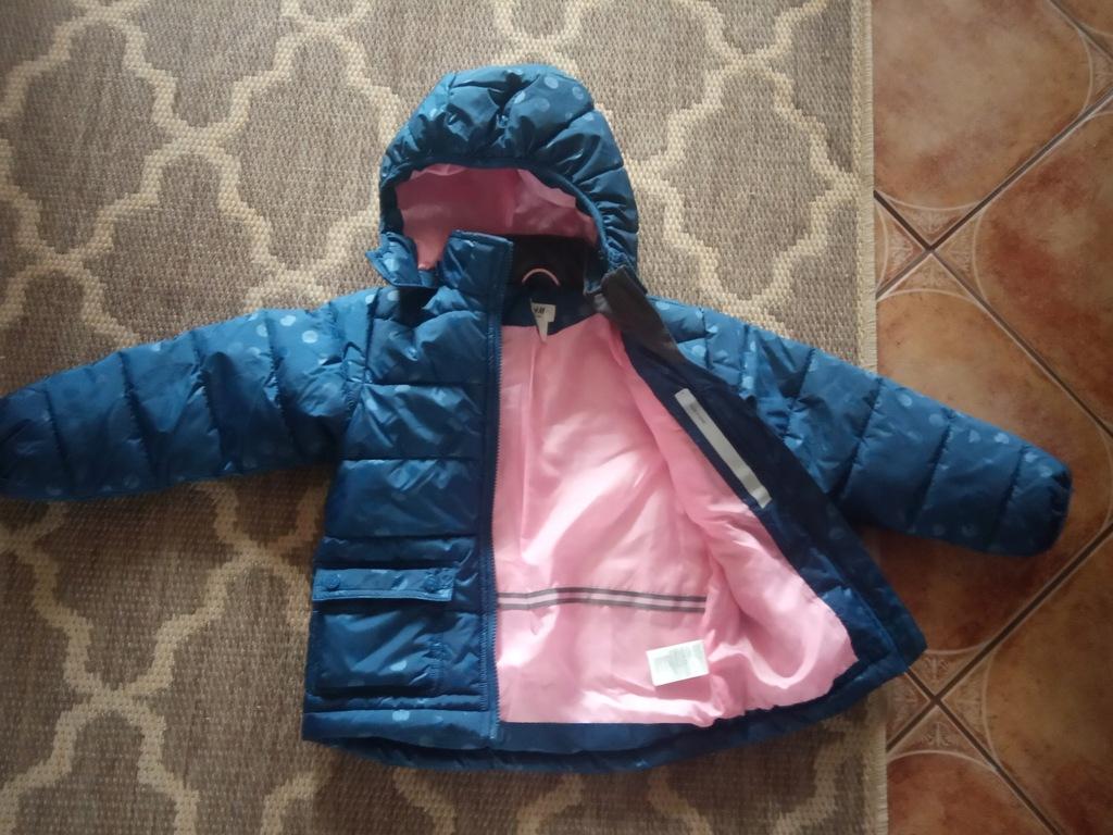 kurtka kurteczka zimowa h&m bliźniaczki 116