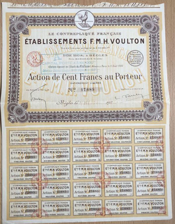 Etablissements F.M.H. Voulton - 1926 r.