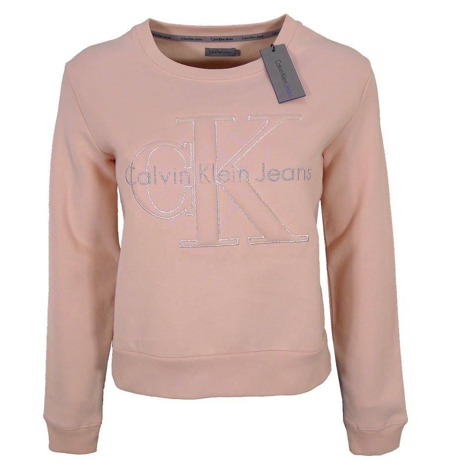 Calvin Klein Jeans Bluza Damska Rozowa Oversize L 7841088072 Oficjalne Archiwum Allegro