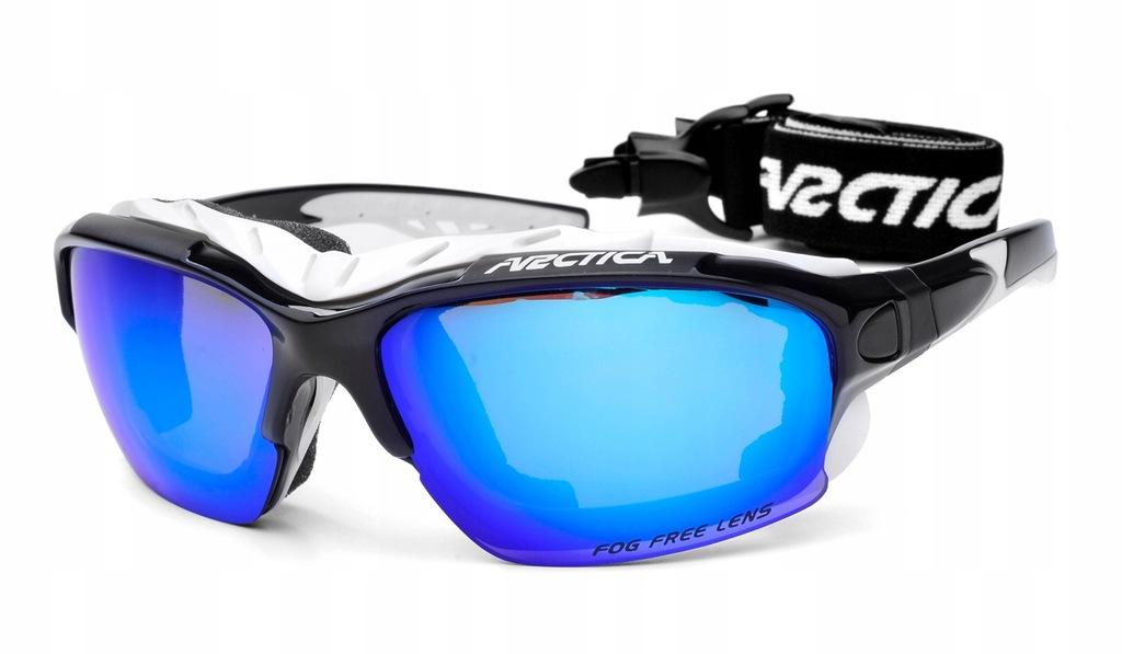 ARCTICA S-163D Okulary NARCIARSKIE niebieskie revo
