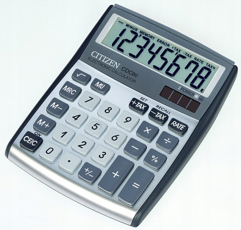 Kalkulator CITIZEN CDC-80WB 8-cyfrowy szarosrebrny