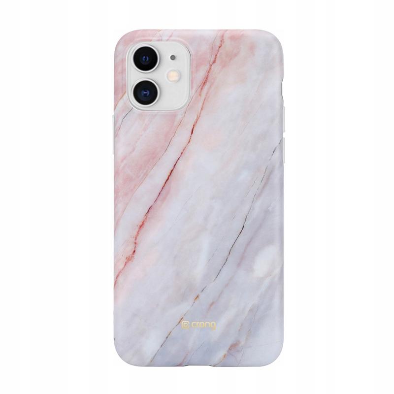 Crong Marble Case - Etui iPhone 11 (różowy)