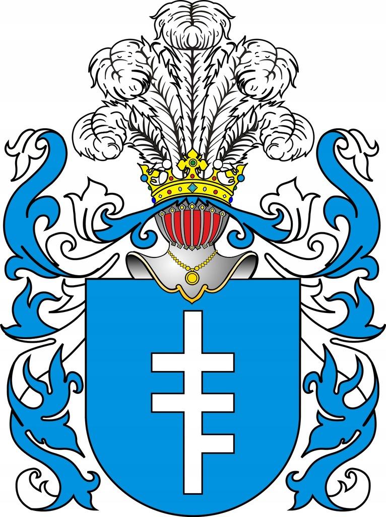 HERB SZLACHECKI PILAWA , 27 x 39 cm (wzór)