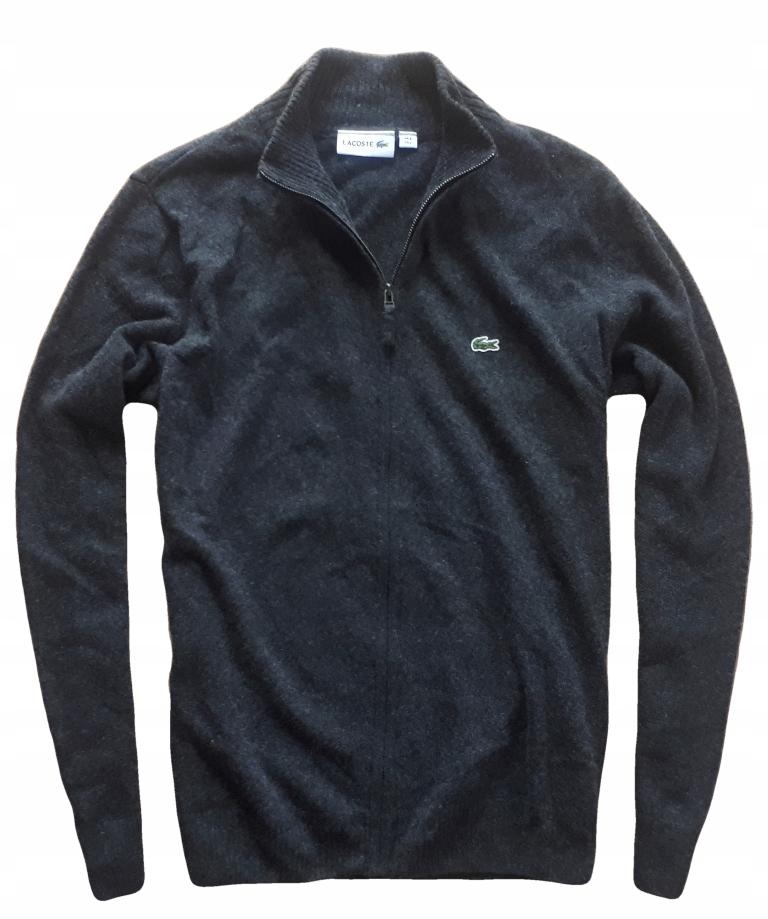 LACOSTE 5 L sweter wełniany na zamek