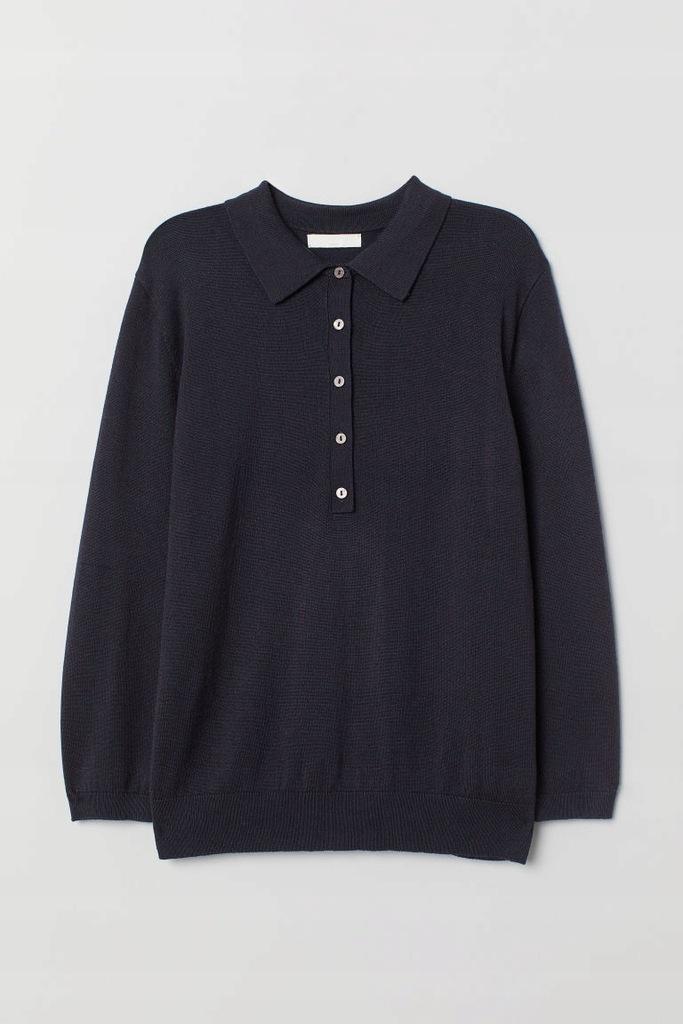 Sweter z kołnierzykiem H&M r. S