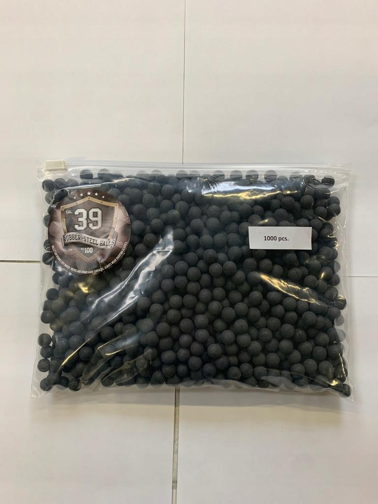 Kule gumowo-metalowe - Rubber-steel balls. 39 cal