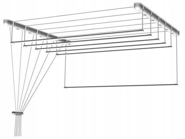 Suszarka sufitowa do bielizny 5 prętów 200x43cm
