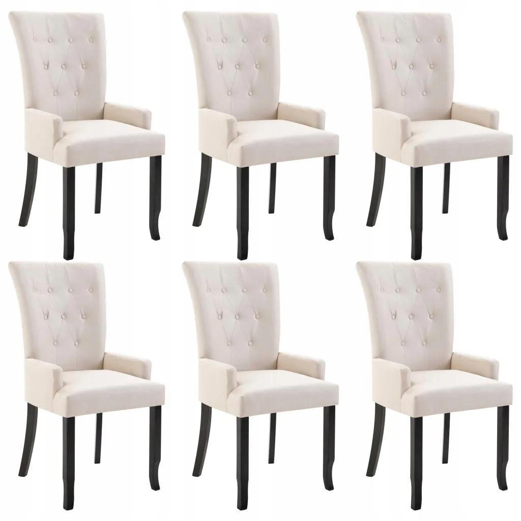 Krzesła jadalniane z podłokietnikami, 6 sztuki