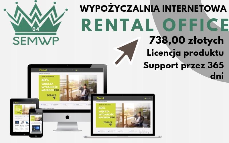 Szablon WordPress| Wypożyczalnia RENTAL OFFICE
