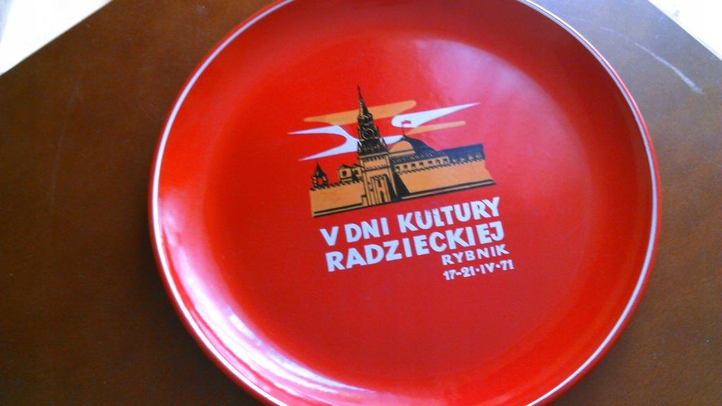 71 Rybnik taca metal dni kultura Rosja CCCP emalia