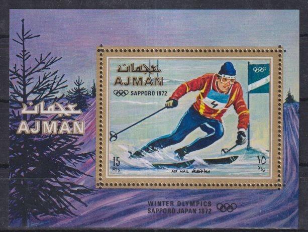 G97. Ajman MNH 1972 Sport - Olimpiada zimowa