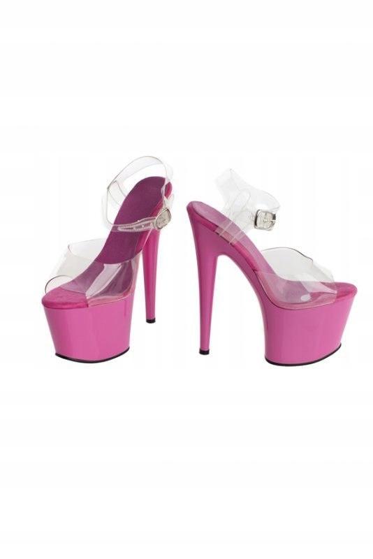 Buty- różowe platformy 39