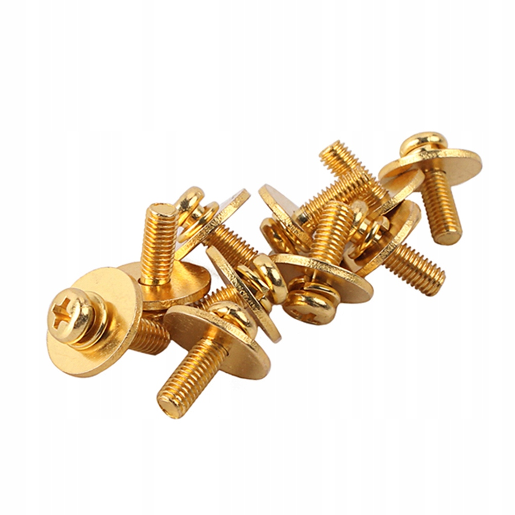 10 sztuk metalowych trwałych śrub mocujących bęben