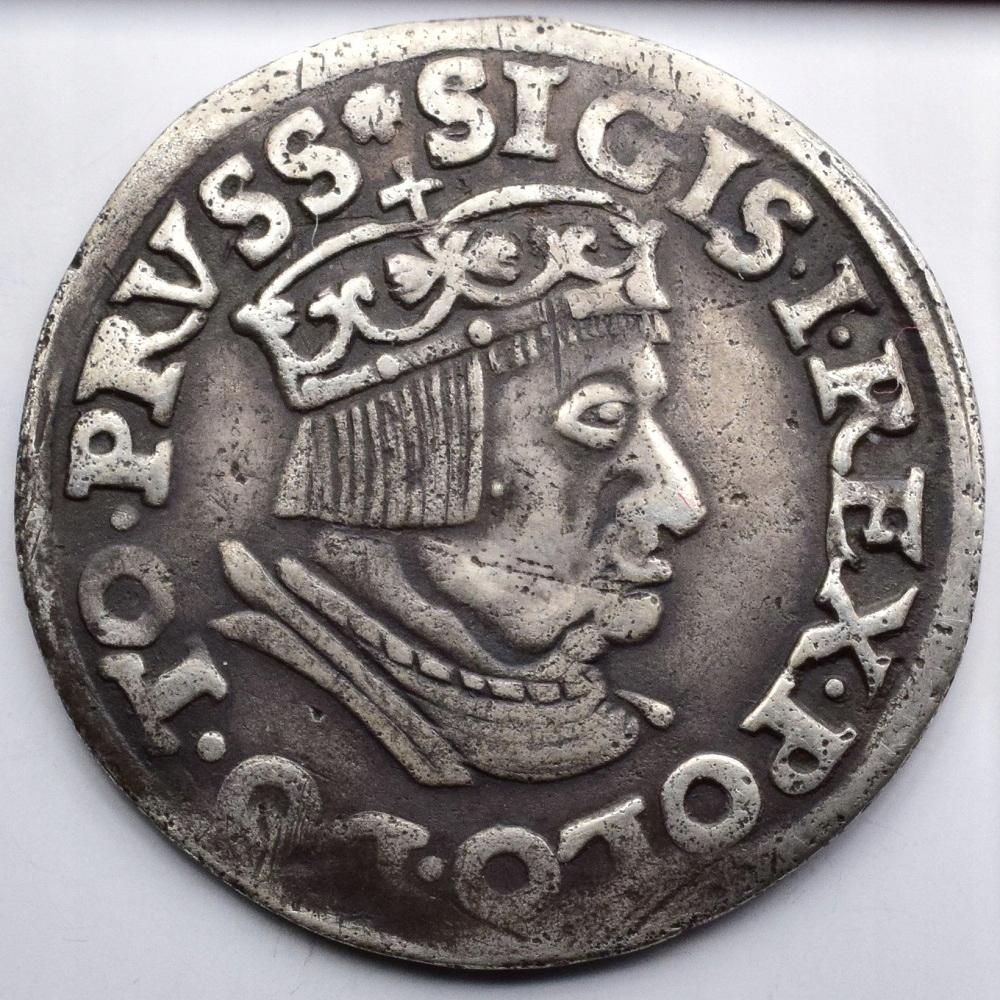 1537 Polska Zygmunt I Stary Gdańsk - trojak