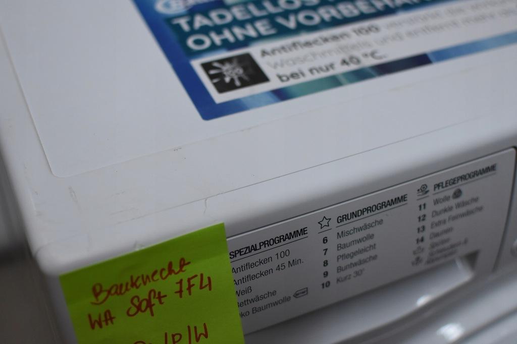 Pralka BAUKNECHT WA SOFT 7F4 A+++ NOWA OUTLET - 8247952374 ...