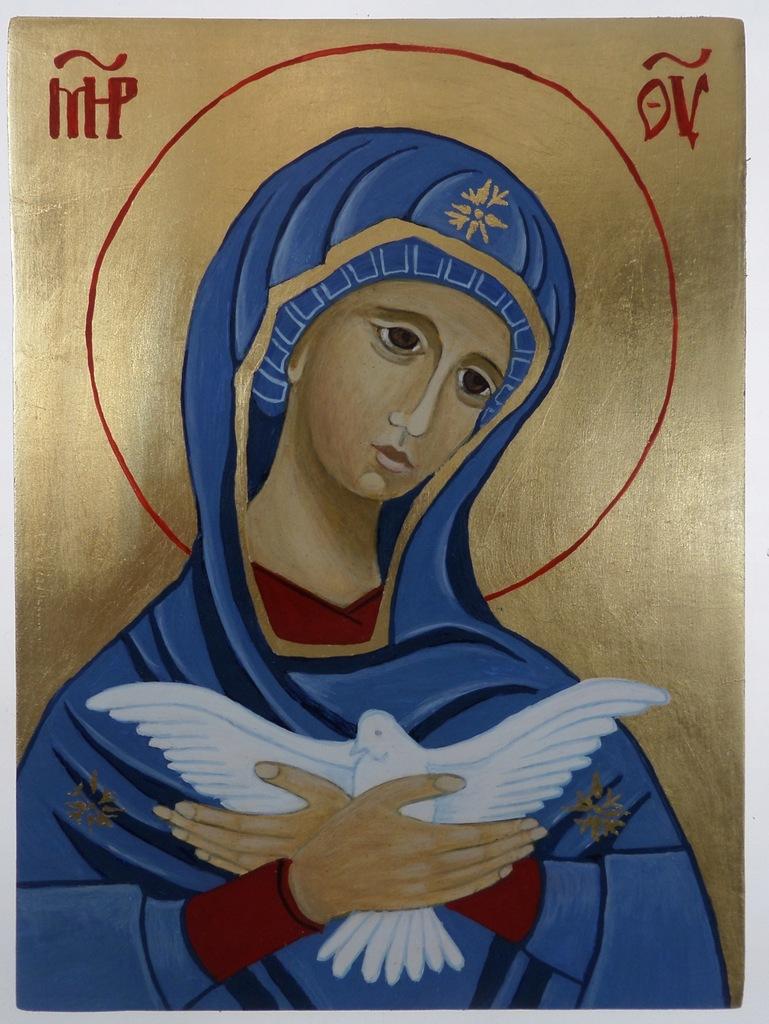 Matka Boska Niosąca Ducha św., ikona na desce