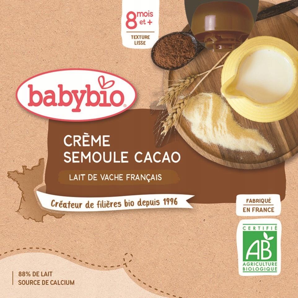 Deser mleczny z semoliną kakaowy BIO 4x85 g