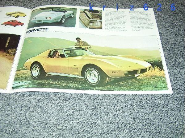 Chevrolet program + Corvette Wagons - 1974 - USA