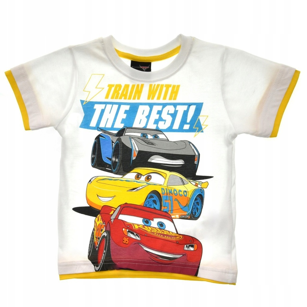 T-shirt dziecięcy Cars Auta Biały r.116