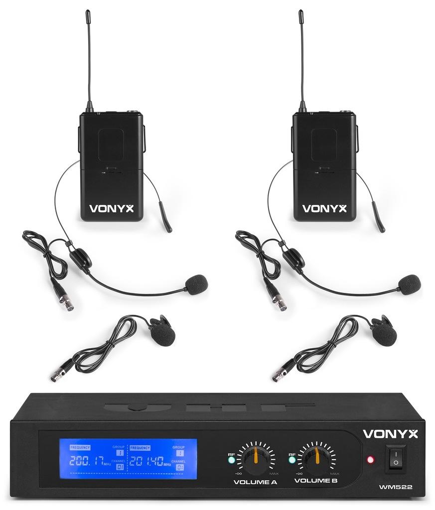 Zestaw mikrofonów Vonyx WM522B 42