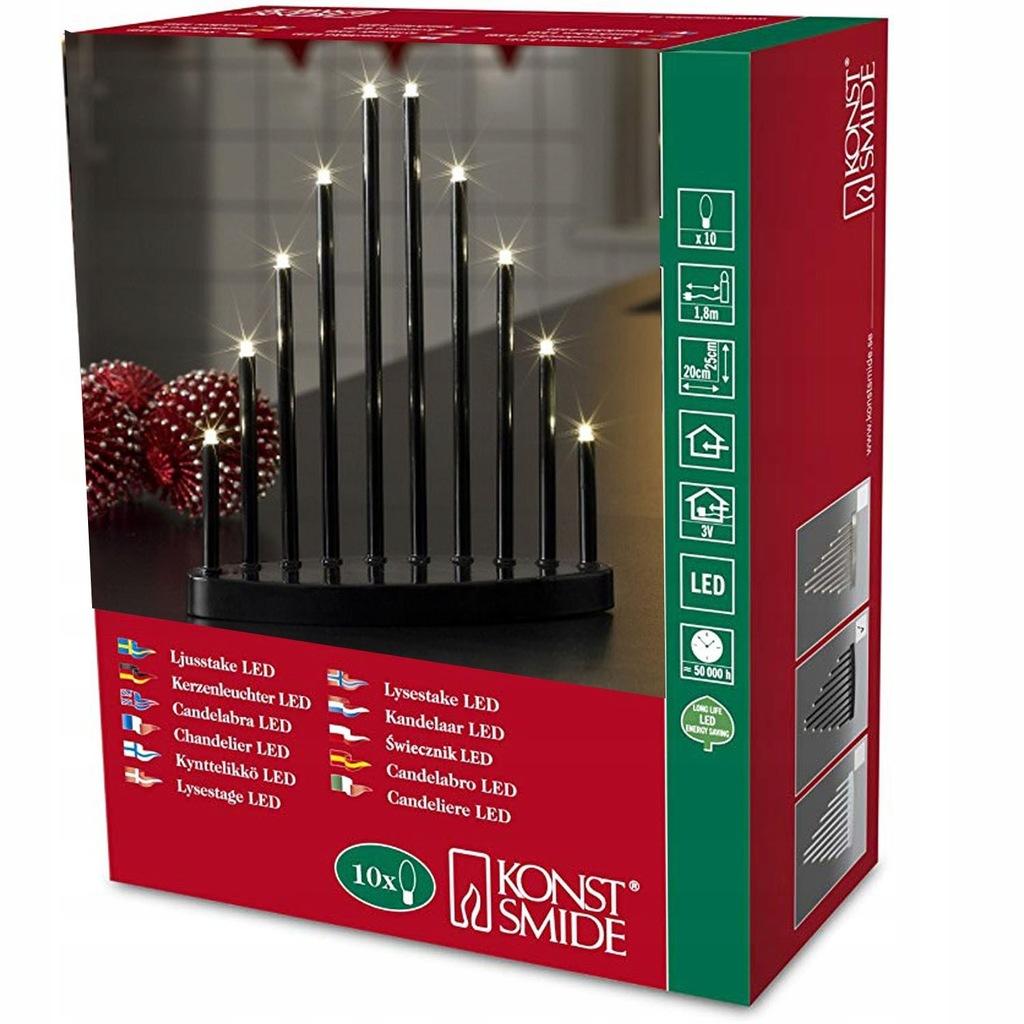 Swiecznik Adwentowy Drewniany Lampki Choinkowe Led 7714208198 Oficjalne Archiwum Allegro