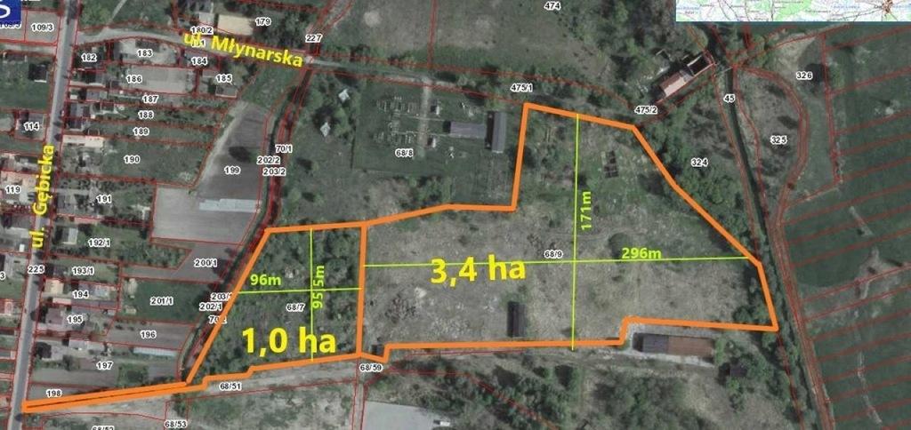 Działka, Ozorków, Zgierski (pow.), 44123 m²