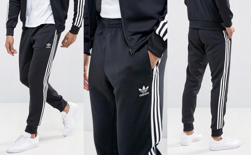 Spodnie dresowe Adidas paski.