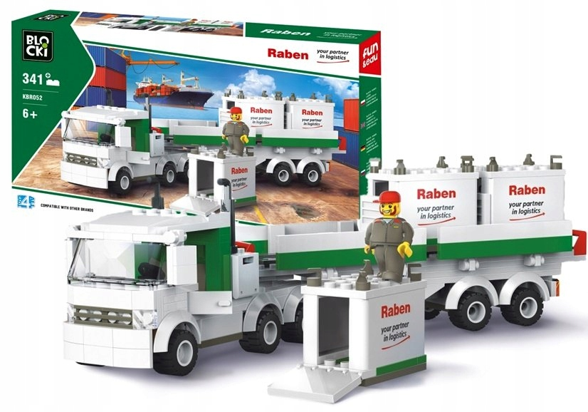 Klocki Blocki Raben Ciężarówka 341el